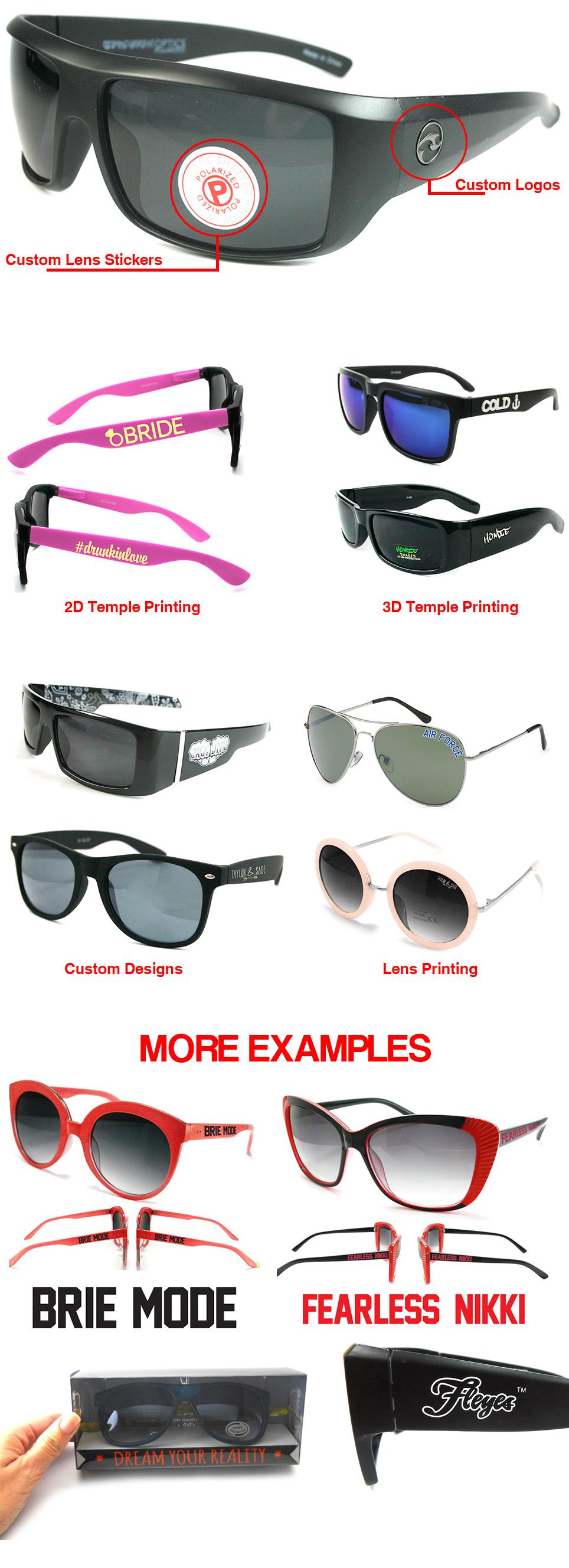 Sunglasses Custom Logo & Brand by Shark Eyes