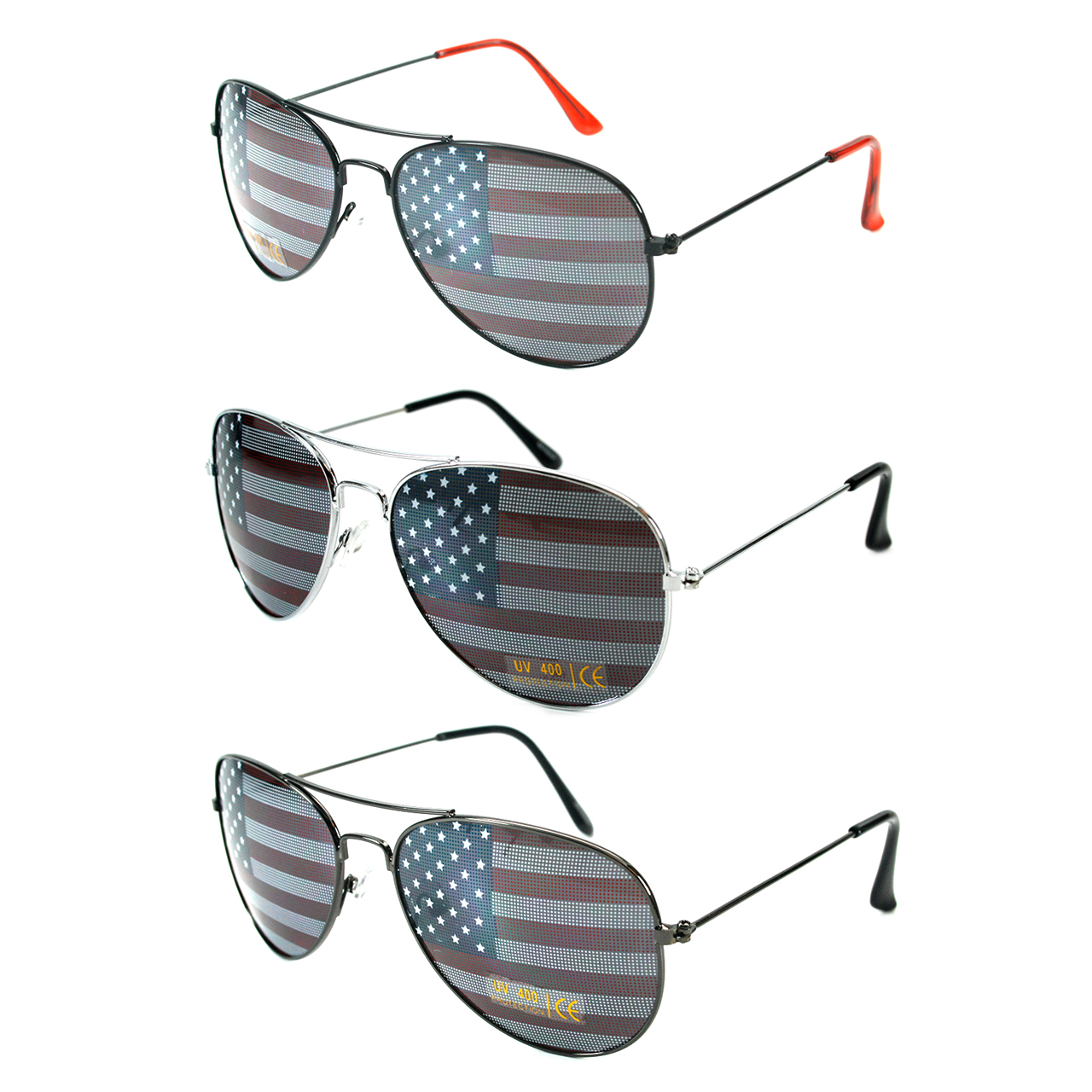 American Flag Sunglasses Aviator