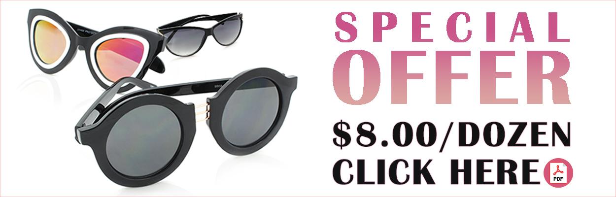 Close Out Sharkeyes Sunglasses - 8.00 per Dozen